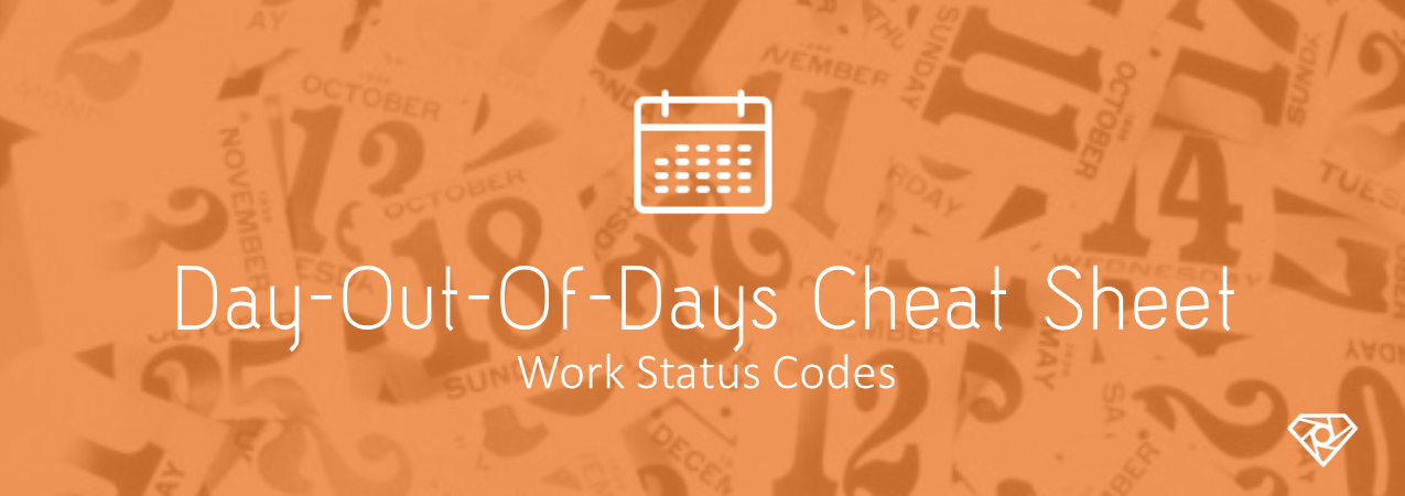 DOOD Cheat Sheet - Day Out of Days Cheat Sheet - Work Status Codes - production-office