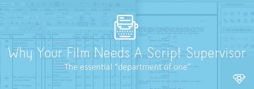 Script Supervisor 1024x361 - Why Your Film Needs A Script Supervisor - on-set, crew-positions