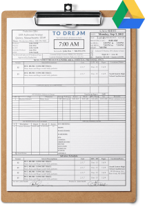 Free professional call sheet template download for Google Sheets