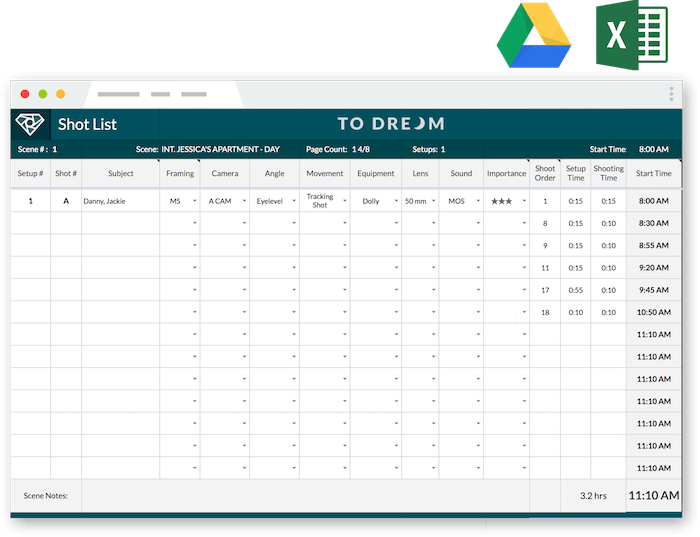 Excel Template List