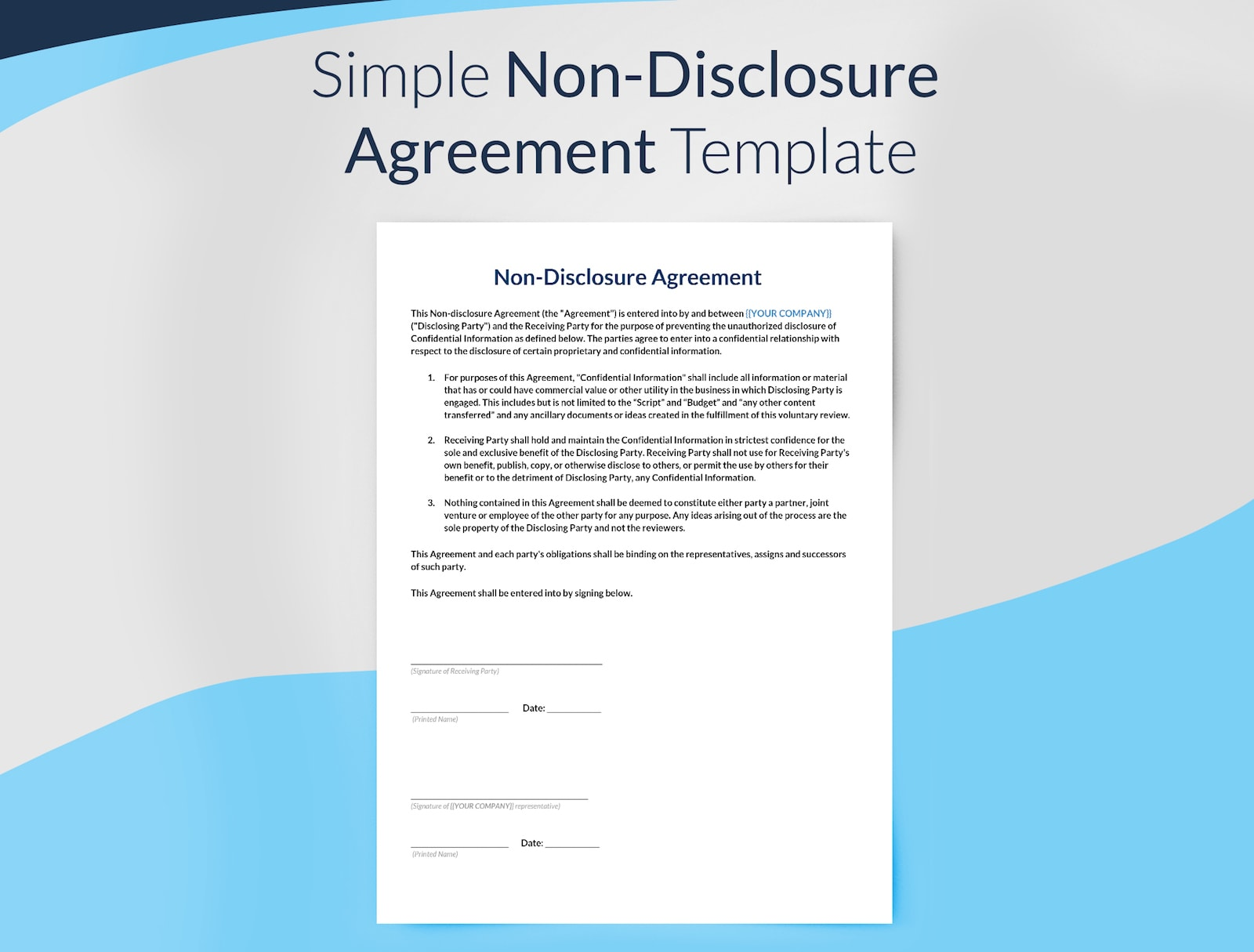 Non disclosure agreement template free download sethero for Basic nda template