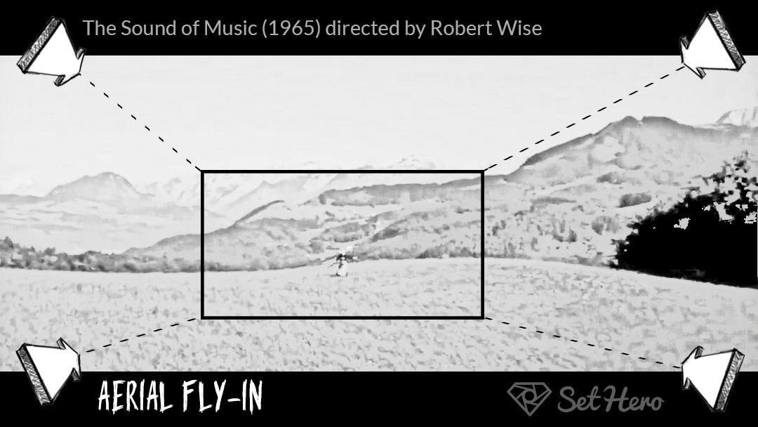 Aerial Helicopter Shot Storyboard The Sound of Music by Robert Wise SetHero - 7 Types of Camera Movement (and When To Use Them) - technique, cinematography