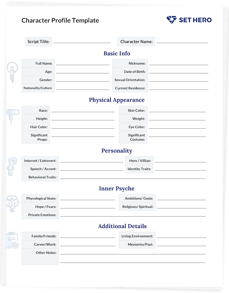 Character Profile Template - Free Download for Screenwriters
