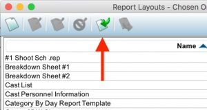 Movie Magic Scheduling to Excel Import Report Template