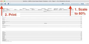 Movie Magic Scheduling to Excel Scale for Printing Step 4