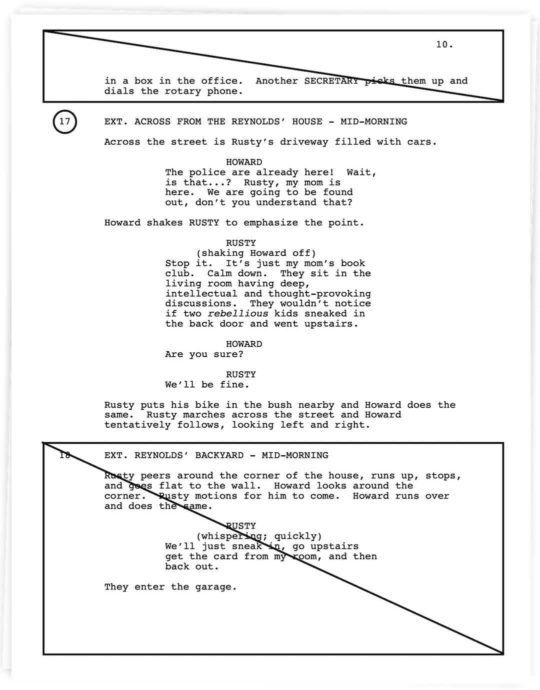 Film Script Sides Template - Example Download Preview